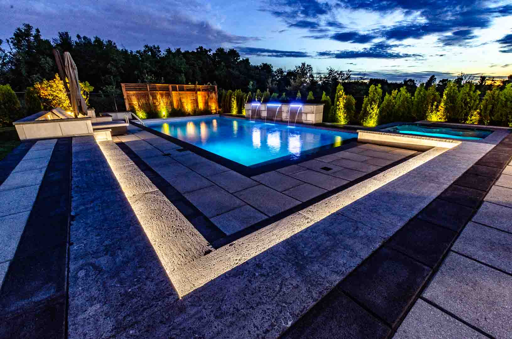 Real estate photography pool