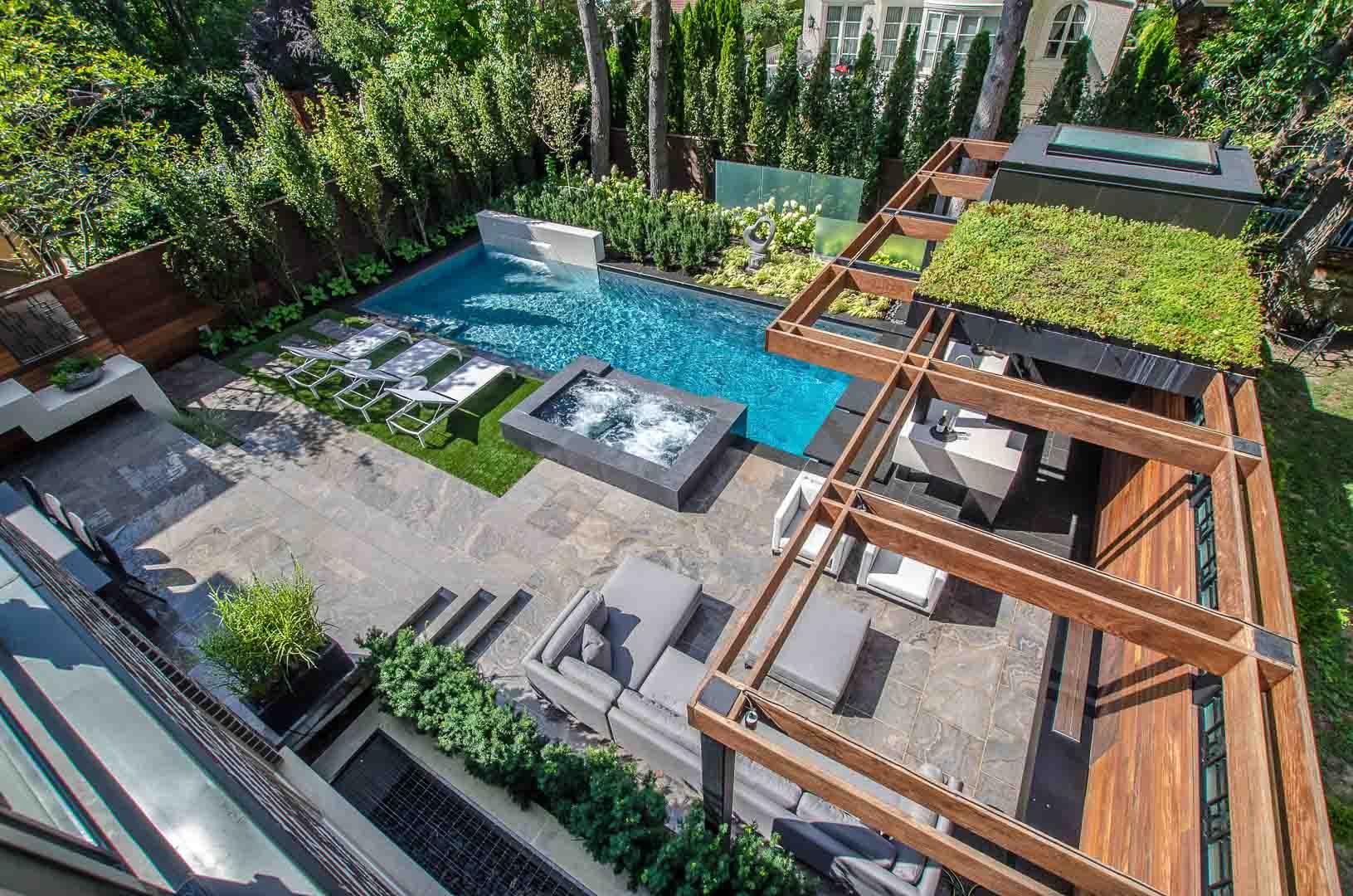 Real estate photography backyard