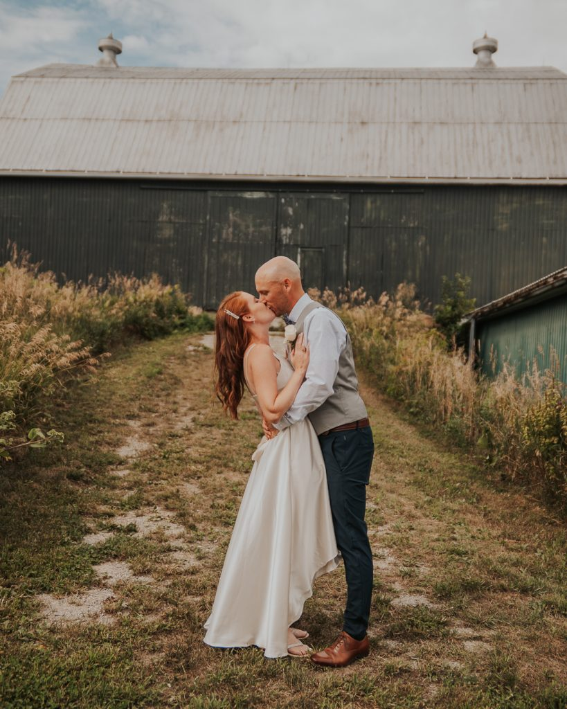wedding, small wedding, bride and groom, intimate wedding, farm wedding